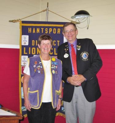 DG Peter Reid and President Patricia Parks during Official Visit September 2011