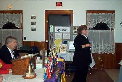 """A. Paula Lunn - Project Coodinator, 14 Days in December, speaking to club about """" Gentle Ways Are Best """" focusing on PEACE"""