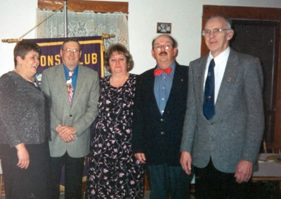 Visitation Awards Lion Wendy Blue - 10 & 25 Visits,Lion Jim Faulkner - 400 Visits,Lion Dallas Moore - 10 & 25 Visits,Lion Bob Starratt - 300 Visits, Lion Royce Vaughan - 300 Visits